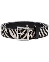Amiri - Black And White Zebra Print Leather Belt - Lyst