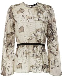 Andrea Marques - Maps Print Blouse - Lyst