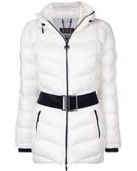 Barbour - Contrast Belt Padded Jacket - Lyst