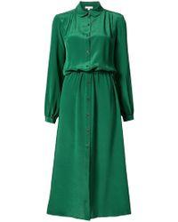 Kamperett - Marian Collared Midi Dress - Lyst