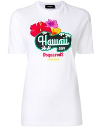 DSquared² - Hawaii Print T-shirt - Lyst