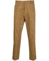 R13 - Leopard Printed Cropped Trousers - Lyst