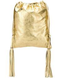 The Attico Tassel Drawstring Bag - Metallic