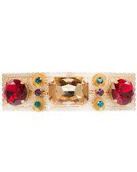 Dolce & Gabbana - Crystal Embellished Hair Clip - Lyst