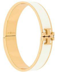 Tory Burch - Enameled Raised Logo Bracelet - Lyst