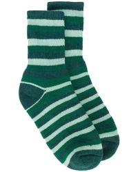The Elder Statesman | Striped Cashmere Socks | Lyst