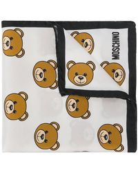 Moschino - Teddy Bear Print Scarf - Lyst