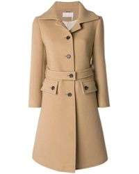 Chloé - Flared Double Breasted Coat - Lyst