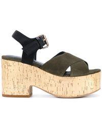 Strategia - Crossover Platform Sandals - Lyst