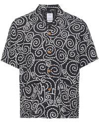 Visvim - Duke Foliage Print Short Sleeve Shirt - Lyst
