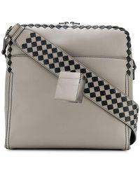 Bottega Veneta Woven Cross Body Bag in Black for Men - Lyst c559218ccde96