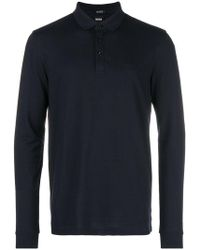BOSS - Longsleeved Polo Shirt - Lyst