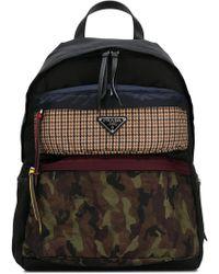 Prada - Contrast Panel Backpack - Lyst