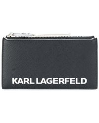 Karl Lagerfeld - Logo Print Zipped Purse - Lyst
