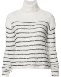 A.L.C. - Turtleneck Striped Jumper - Lyst