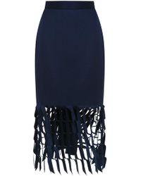 Gloria Coelho - Cut Out Detail Skirt - Lyst