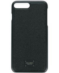 Dolce & Gabbana - Coque pour iPHone 6/7 Plus à plaque logo - Lyst