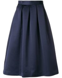 P.A.R.O.S.H. - Pleated Midi Skirt - Lyst