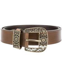 Alberta Ferretti - Engraved-buckle Belt - Lyst