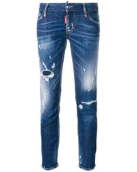 DSquared² - 'Super Skinny' Cropped-Jeans - Lyst
