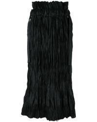 Sacai - Textured Midi Skirt - Lyst