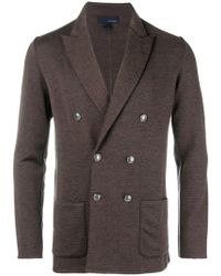 Lardini - Double Breasted Fitted Blazer - Lyst