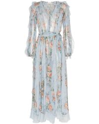 Zimmermann - Robe volantée à fleurs - Lyst