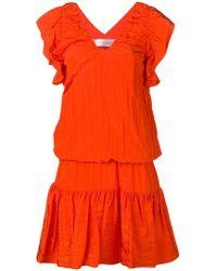 Victoria, Victoria Beckham - Tie Waist Dress - Lyst