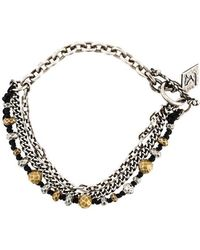 M. Cohen - Chain And Beaded Bracelet - Lyst