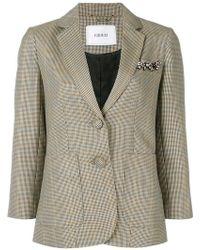 Erdem - Alvine Wool Plaid Jacket - Lyst