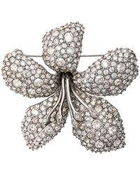 Oscar de la Renta - Broche con detalle floral - Lyst