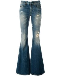 Faith Connexion - Used Effect Flared Jeans - Lyst