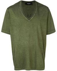 DSquared² T-shirt à col v - Vert