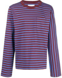 Sacai - Striped T-shirt - Lyst