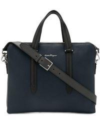 Ferragamo - Leather Laptop Bag - Lyst