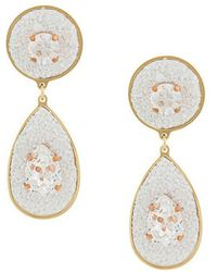 Shourouk - Dazzle Drop Earrings - Lyst