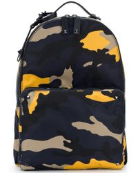 Lyst - Valentino Navy Rockstud Camouflage Print Nylon Backpack in ... 6bef19957a94c