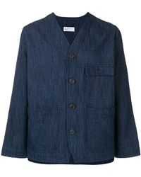 Universal Works - V-neck Shirt Jacket - Lyst