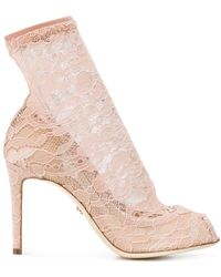 Dolce & Gabbana - Court Shoes With Lace Socks - Lyst