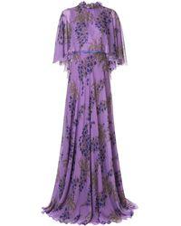 Giambattista Valli - Floral Flared Maxi Dress - Lyst