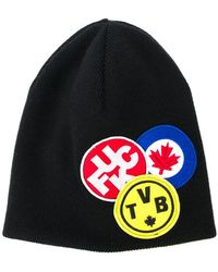 DSquared² - Embroidered Patch Beanie - Lyst