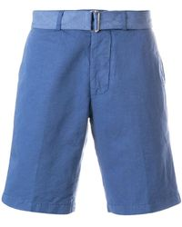 Officine Generale - Belted Chino Shorts - Lyst