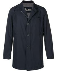 Herno - Single-breasted Fitted Coat - Lyst