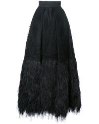 Isabel Sanchis - Embroidered Plume Trimmed Ball Skirt - Lyst