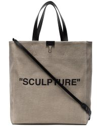 Off-White c o Virgil Abloh - Sculpture Leather Handle Tote Bag - Lyst 1e9532adc7d77