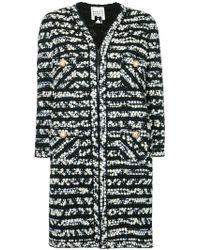 Edward Achour Paris - Pattern Knit Coat - Lyst