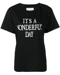 Alberta Ferretti - It's A Wonderful Day T-shirt - Lyst