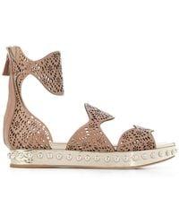 Giambattista Valli - Perforated Strap Sandals - Lyst