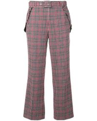 Twin Set - Checked Cropped Trousers - Lyst