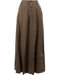 Uma Wang | Stripe Stitched Wide Leg Trousers | Lyst